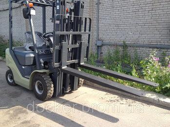 Вилы Удлинитель вил 4т Docker 2500 мм для погрузчика 2016