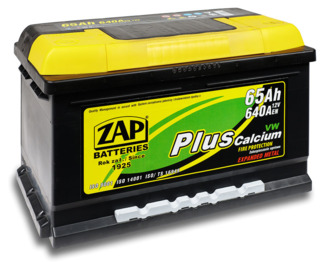 Аккумулятор ZAP PLUS Calcium 65 Ah