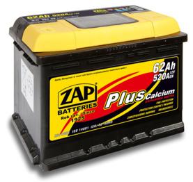 Аккумулятор ZAP PLUS Calcium 62 Ah