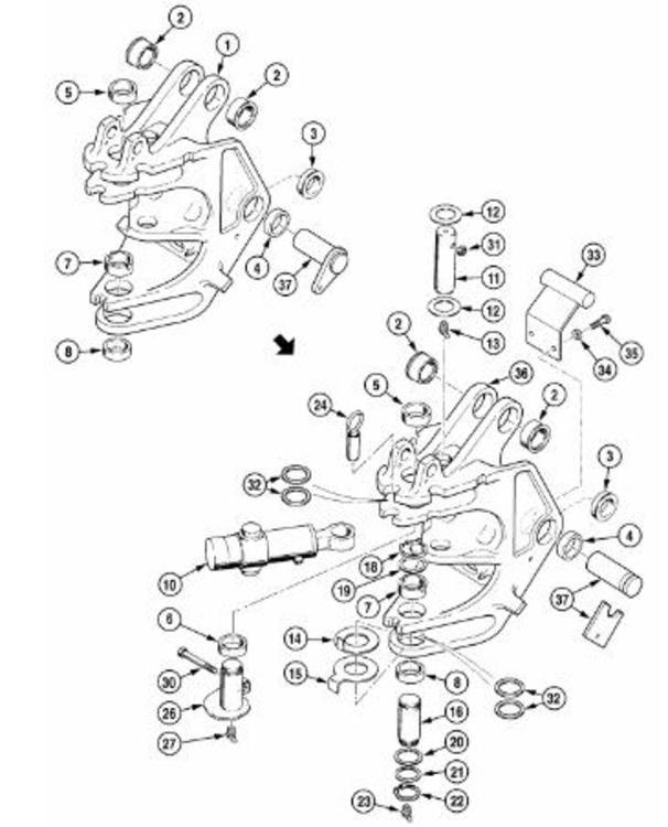 Втулки та пальці до Екскаватора-погрузчика CATERPILLAR 428, 426, 424, 422, 420 2004 - фото